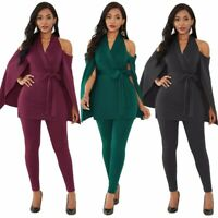 Women's Party Ladies Sexy Long Strapless Jumpsuits V-Neck cloak Rompers dress