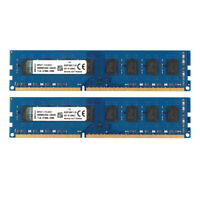For Kingston 16GB 2X 8GB PC3-12800U DDR3 1600MHz RAM DIMM Desktop Memory Intel #