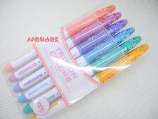 Pilot FriXion Colors Erasable 0.7mm Marker Pen 6 Colors Set w/ Case, SFC-60M-6C2