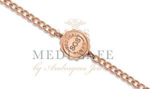 SOS BRACELET MEN/LADIES MEDICAL/ALERT INFO/STAINLESS STEEL TALISMAN ROSE GOLD