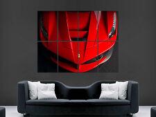 FERRARI CAR SPORT RED    ART HUGE  LARGE PICTURE POSTER GIANT