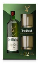 Glenfiddich 12 Jahre Single Malt Scotch Whisky + 2 Gläser - 40 % Vol./ 0,7 L