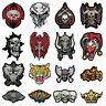 large skull biker motorbike embroidered iron/sew on patch badge patches