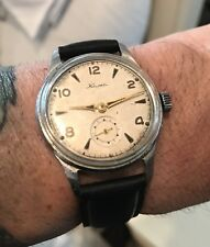 Vintage Soviet Russian Military Mechanical Men's Rare Kama Watch 35mm 1950's