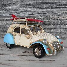 Blechmodell Citroen 2CV Ente mit Dachgepäckträger Surfbrett geheimerBilderrahmen