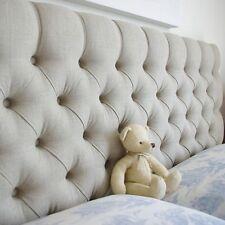 Cube Headboard Turin Fabric 30'' Height Diamonds Top Quality BARGAIN 5ft Kingsize Linen