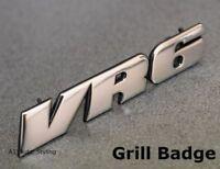 VW Golf VR6 Car Grill Badge Emblem Decal MK3 Grille Chrome Corrado Jetta Passat