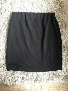 BNWT Ladies Dorothy Perkins Black Stretchy Maternity Skirt Size 18