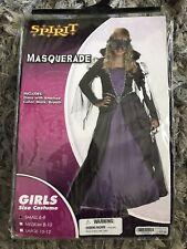 GIRLS Mardi Gras Dress & Mask Renaissance HALLOWEEN COSTUME DRESS SZ S 4-6 NEW