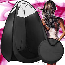 SPRAY TAN TANNING POP UP TENT 210CM HEIGHT CLEAR SEWN IN ROOF & FLOOR & FAN ZIP
