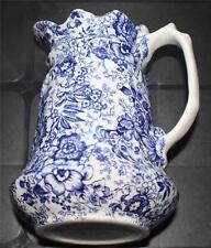 "Vintage JAMES KENT England Blue OLD FOLEY 18th Century Chintz 7""h Pitchers"