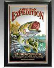 American Expedition Framed Largemouth Bass Mirror