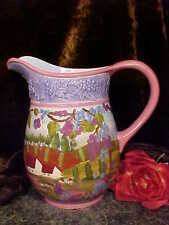 "Ganz Bella Casa HP Ceramic COUNTRY SCENES - BIG 9+""TALL Pitcher BEAUTY!"
