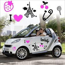 adesivi stickers auto love paris fragolina ciliegie tuning car