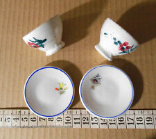 Miniatura antigua, porcelana,cerámica platos y tazones, casa muñecas