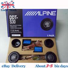 "Alpine DDT-S30 25MM 1"" 360W Soft Dome Balanced Car Speakers Tweeters Crossovers"
