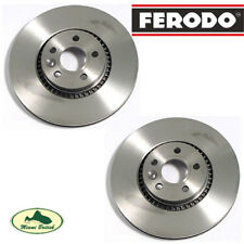 LAND ROVER FRONT BRAKE ROTOR DISC PAIR SET LR2 LR027107 FERODO