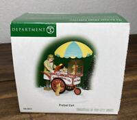 DEPARTMENT DEPT 56 CHRISTMAS IN THE CITY - PRETZEL CART 58973 RETIRED - Open Box