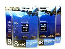 LOT of 4 VIVITAR 8GB SD SDHC Class 6 & Class 10 MEMORY CARD CAMERA CAMCORDER