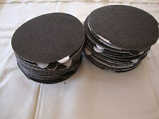 "5"" Inch 100 Sandpaper Disks 40 Grit Peel and Stick Adhesive Abrasive Sand Paper"