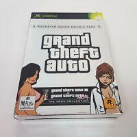 GRAND THEFT AUTO (Microsoft XBOX Original) Double Pack III / Vice City  Complete