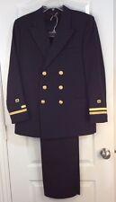 US Navy USN Sz 34 R Military Lt. Officer Service Dress Blues Jacket Coat & Pants