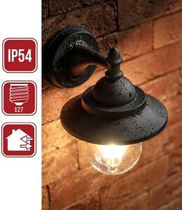 Wandlampe Außen E27 Klassisch Historisch Landhaus Laterne Outdoor Schwarz Alu