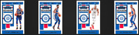 4 Cards Lot 2019 Panini Contenders 76ers Ben Simmons Joel Embiid Harris Horford