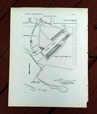 1911 Niagara Falls Power Company Intake Canal Map Buffalo Ave Discharge Tunnel