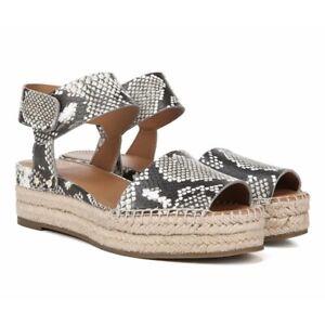 Franco Sarto Women's Snake Print Platform Espadrilles Sandals Size 7