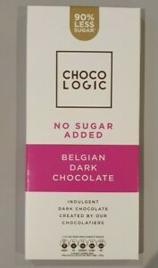 3X 80g Chocologic 90% Sugar Free Chocolate Keto & Diabetic Friendly FREE POSTAGE