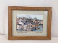 Harpers Ferry West Virginia Signed Joanne Happ 4x6 Wood Framed Art Print