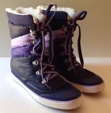 Keds Purple Women's Winter Snow Boots Faux Shearling Lined Size 6