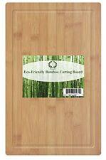 Da Vinci Natural Bamboo Groove Cutting Board, Extra Large 18 x 11.8 Inch Wood