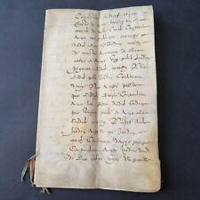Parchemin 1600 XVIIè Vente de Maison Velin 17th C French Handscript