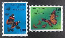 St Pierre und Miquelon SPM 1973 Schmetterlinge Butterflies Farfalla 505-6 MNH