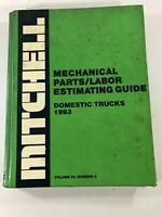 Mitchell Mechanical Pars Labor Estimating Guide Domestic Trucks 1983  Vol 24 No3