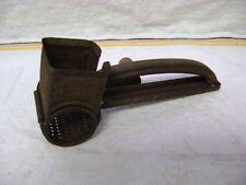 """Vintage MOULI Handheld Grater Shredder, Wood Handle, 7.5"""" Long!"""