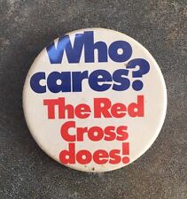Vintage Red Cross Badge Who Cares Charity Appeal British