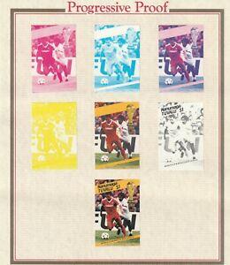 TUVALU NANUMAGA $1 CANADA SHEET OF 1986 MEXICO WORLD CUP PROGRESSIVE PROOFS