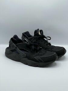 Nike Air Huarache Black Trainers Size UK8.5