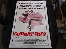 One Sheet Movie Poster Combat Cops 1974 Juanita Moore Austin Stoker The Get-man