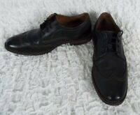 Johnston & Murphy Black Leather Wingtip Oxford Shoes Men's Size 9.5 M