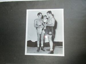 1930's PRIMO CARNERA,MAX BAER & SPANKY (Our Gang) BOXING PHOTO
