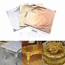100x GOLD feuille d'or 14x14cm or sur base pour dorure Or / Argent / Cuivre KK