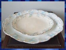 Rare Set of 2 Antique Doulton Burslem KATHRYN Pattern Serving Platters c1895