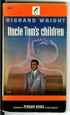 UNCLE TOM'S CHILDREN by Richard Wright, rare US Penguin racial pulp vintage pb