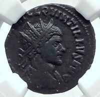 QUINTILLUS Authentic Ancient 270AD Rome Genuine Roman Coin VICTORY NGC i77653