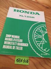 Honda XL125R XLR 125 F supplément revue technique moto manuel atelier