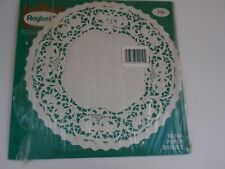 "Vintage Roylcraft Royal Lace Paper Doilies Large 10"" IOP 23 Crafts Baking White"